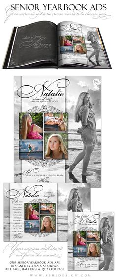 senior yearbook ad template designs for photographers ashedesigncom