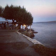 Having dinner by the in Hiona Crete, Globe, Sea, Dinner, Water, Outdoor, Instagram, Dining, Gripe Water