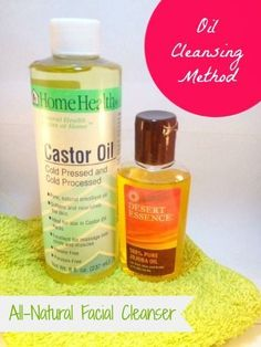 oil cleansing method - Why I'll never go back to commercial face cleanser