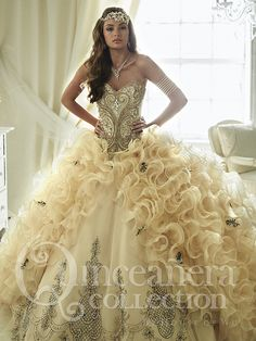 The Quinceanera Collection offers elegant quinceanera dresses, 15 dresses, and vestidos de quinceanera! These pretty quince dresses are perfect for your party! Gorgeous Prom Dresses, Sweet 16 Dresses, 15 Dresses, Beautiful Gowns, Pretty Dresses, Beaded Dresses, Corset Dresses, Dress Lace, Cheap Dresses