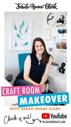 Take a look inside Sarah Renae Clark's new craft room set up in this colorful office tour! Steal some ideas for your dream office space and find out what she uses for marker storage, pencil holders and her washi drawers. #craftstorage #craftroom Craft Room Storage, Craft Organization, Marker Storage, Pencil Holders, New Crafts, Room Set, Washi, Drawers, Room Ideas