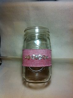 Mason Jar Décor.....Removable....can be used on cylinder vases too! Source: ME! :)