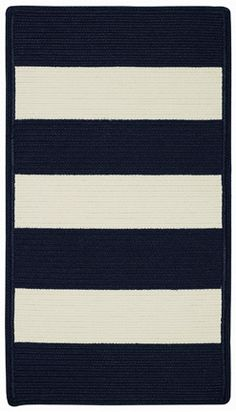 Stunning Stripe - Cabana Stripes braided rug for indoors or out!