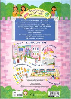 libro gioco - principesse nel mondo - by irene mazza
