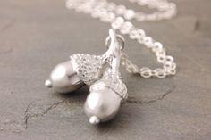 30 Off Sale Acorn Charm Necklace  acorn necklace by MegusAttic, $20.30