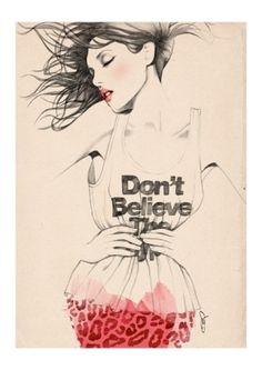 Fashion Illustration: Sandra Suy by Giulia Gray