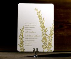 Rosemary smells sweetly of fresh letterpress invitations keen for a chic outdoor wedding close to nature.