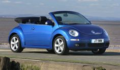 Blue soft top Beetle