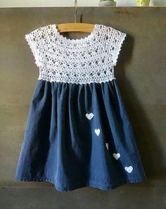 Vestito Bambina Uncinettoperbambina Un - Diy Crafts Crochet Dress Girl, Crochet Girls, Crochet Baby Clothes, Crochet For Kids, Baby Girl Dress Design, Little Girl Dresses, Baby Dresses, Summer Dresses, Knitting For Kids