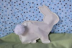Easter bunny paper candy pouches