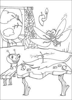 Dibujos para Colorear Miss Spider 9