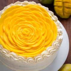 mango cake is bursting with fresh mango flavor! An impressive, show-stopping mango cake recipe with only 9 ingredients. It is surprisingly simple. Mango Dessert Recipes, Delicious Desserts, Recipes With Mango, Food Cakes, Cupcake Cakes, Mango Mousse Cake, Mango Cupcakes, Mango Cheesecake, Baking Recipes