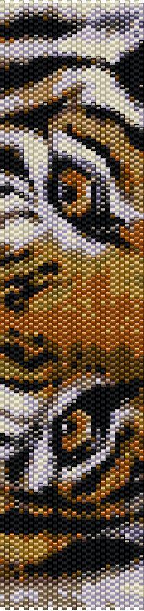 Tiger Eyes Peyote Stitch Bracelet Pattern by CKFJewelryDesigns