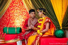 yellow, orange indian wedding