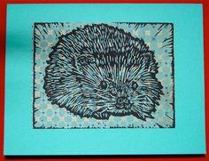 Little Hedgehog print by ShootTheBreezePrints on Etsy, $2.50