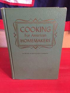 Vtg Encyclopedic Cookbook Cooking for American Homemakers 1965 1960s   eBay