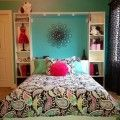 Wonderful Tween Girl Bedroom with Pop Art in Duvet and Bed Cover and Light Blue Wall Color and White Shelfs a part of Wonderful Tween Girl Bedroom with Pop Art in Duvet and Bed Cover and Light Blue Wall Color and White Shelfs under Bedrooms