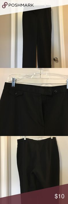 JM Collection black trousers 16S JM Collection black trousers 16. Short length. Polyester, rayon and spandex. Elastic at waist for a little extra stretch. JM Collection Pants Trousers