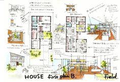 1階ビルトインガレージ / 2階LDK アウトドアリビング・書斎