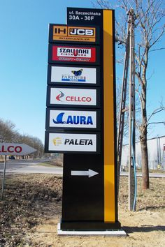 Pylon Signage, Entrance Signage, Outdoor Signage, Exterior Signage, Wayfinding Signage, Signage Design, Led Sign Board, Signage Board, Office Signage