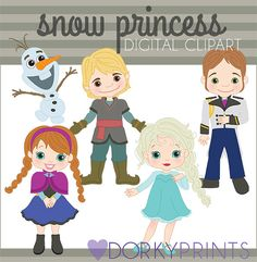 Frozen Digital Clip Art Set -Personal and Commercial- Frozen Inspired  Clipart