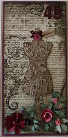 Dress form.  LOVE this tag.  Lots of thought has gone into the elements and the way they speak to each other.