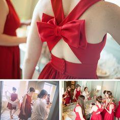 Robes de demoiselles d'honneur. Couleur : Rouge ! #bridesmaidgown #bridesmaiddress #weddingdress