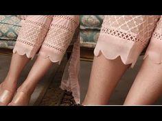 Beautiful and stylish palazo bottom design /poncha design Kurti Sleeves Design, Kurta Neck Design, Sleeves Designs For Dresses, Dress Neck Designs, Sleeve Designs, Stylish Dresses For Girls, Stylish Dress Designs, Salwar Designs, Kurta Designs Women