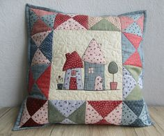 Quilt-KissenbezugPatchwork KissenQuilted Pillow