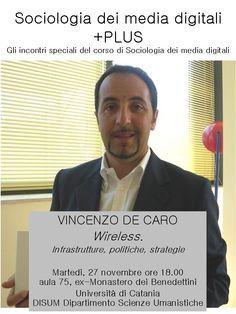 Sociologia dei media digitali PLUS: 27 novembre 2011, h.18.00, Vincenzo de Caro (Mandarin)