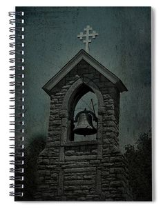 St Mary Magdalene Church TealSt Mary Magdalene Church Steeple, Fayetteville Tennessee.  Image shows stacked rock steeple surrounding a bell with a white decorative cross on top. Perfect notebook for the faith based student. Great journal for gifts to other church members as there are several versions of this image to apply to the cover. Excellent for organizing church events or lists.  #journal #journaling #notebook #church #Fayetteville #Tennessee #spiritual #religious #cross #bell…