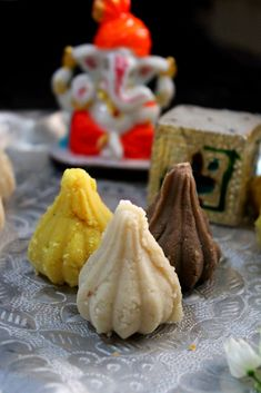 Modak 3 ways, Offerings To Lord Ganesha - Lord Ganesha, Chocolate Flavors, Modak Recipe, Yellow Foods, Indian Dessert Recipes, Makeup And Beauty Blog, Cardamom Powder, Recipe Notes, Recipe Please
