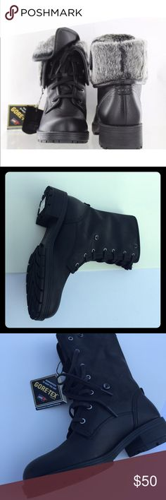 """Clarks women boots Gore Tex -Please check other listings. We can combine shipping - We may have other sizes.  Features:  Leather Imported Lug Sole sole Shaft measures approximately 7.48"""" from arch Full grain leather and faux fur upper with waterproof construction GORE-TEX technology Removable Ortholite sheet insole Textile sockliner Steel shank Clarks Shoes Winter & Rain Boots"""