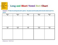 Great for reinforcing and assessing short vowel sounds!  FREE!