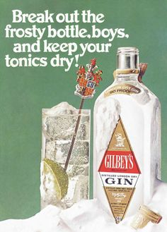 Detail from 1968 Advertisement for Gilbey's Gin