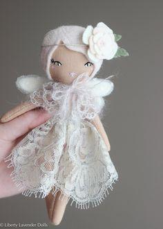 """Liberty Lavender Dolls Mini Fairy Heirloom Doll 7"""" ish tall."""