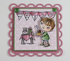 My Noteworthy Cards: Another Stampendous Challenge Card, Another New Kiddo