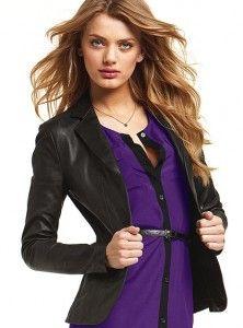 Victoria's Secret Leather Blazer $350