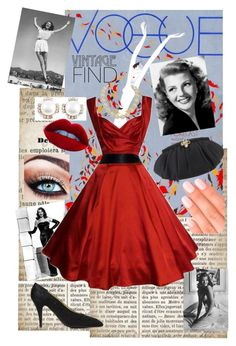 """""""Vintage Find: Rita Hayworth"""" by rosalieairynnmalfoy ❤ liked on Polyvore featuring Chanel, Judith Leiber, Elegant Touch and vintage"""