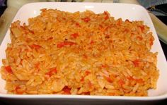 Make and share this Tomato Rice recipe from Genius Kitchen. Tomato Fried Rice Recipe, Tomato Rice, Rice Recipes, Cooking Recipes, Meatless Recipes, Gluten Free Chicken, Baked Beans, Rice Dishes, Sans Gluten