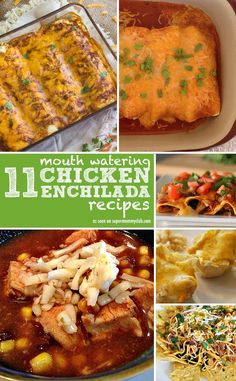 You just can't beat a delicious chicken enchilada recipe!