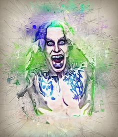 Jared Leto as the new Joker from Suicide Squad