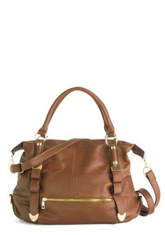 Every Day, Everywhere Bag in Cognac | Mod Retro Vintage Bags | ModCloth.com