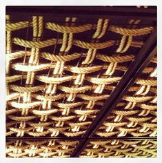 A pic of the #handwoven rope ceiling at #Gochi Japanese @Crown Communities nothing like large scale #weaving!!!!