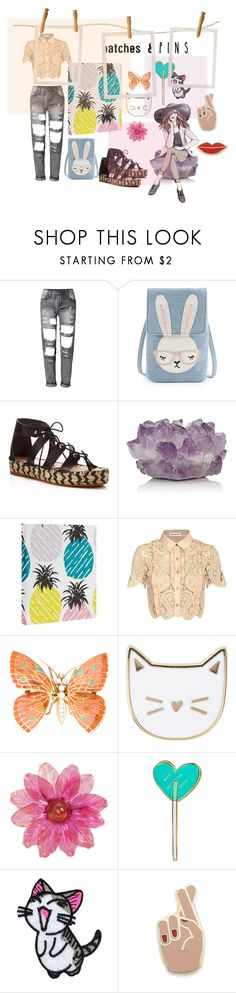 """pin"" by tobash21 ❤ liked on Polyvore featuring Loeffler Randall, McCoy Design, self-portrait, Des Petits Hauts, Tuesday Bassen, Georgia Perry and patchesandpins"