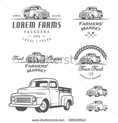 Set of retro farming labels, badges and design elements by Ivan Baranov, via Shutterstock