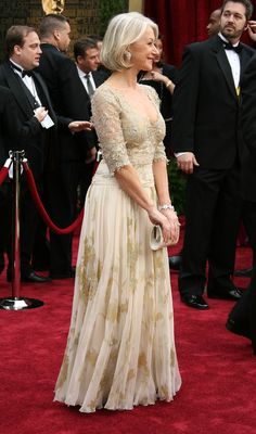 40 Dresses With Their Own Wikipedia Entries: Christian Lacroix Dress Of Helen Mirren at the Academy Awards, February 2007.