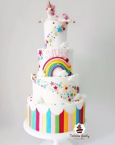 60 Simple Unicorn Cake Design Ideas These trendy Unicorn ideas would gain you amazing compliments. Check out our gallery for more ideas these are trendy this year. Unicorne Cake, Cupcake Cakes, Beautiful Cakes, Amazing Cakes, Unicorn Cake Design, Birthday Cake Girls, Birthday Design, Rainbow Birthday Parties, Unicorn Birthday Cakes