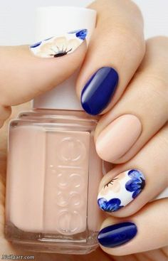 The Best Flowers Nail Art Designs – 100 pictures #DIYNailDesigns