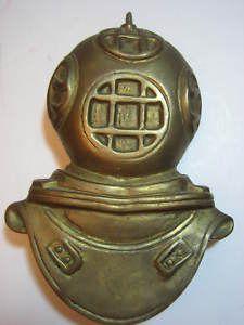 Brass Deep Sea Diver Helmet Door Knocker Vintage